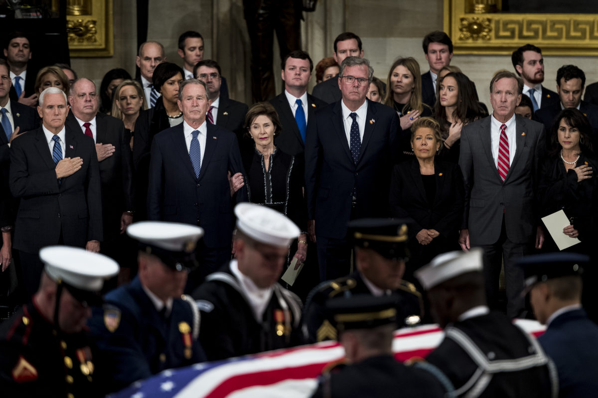 Former President George H.W. Bush Lies in State in the United States Capitol