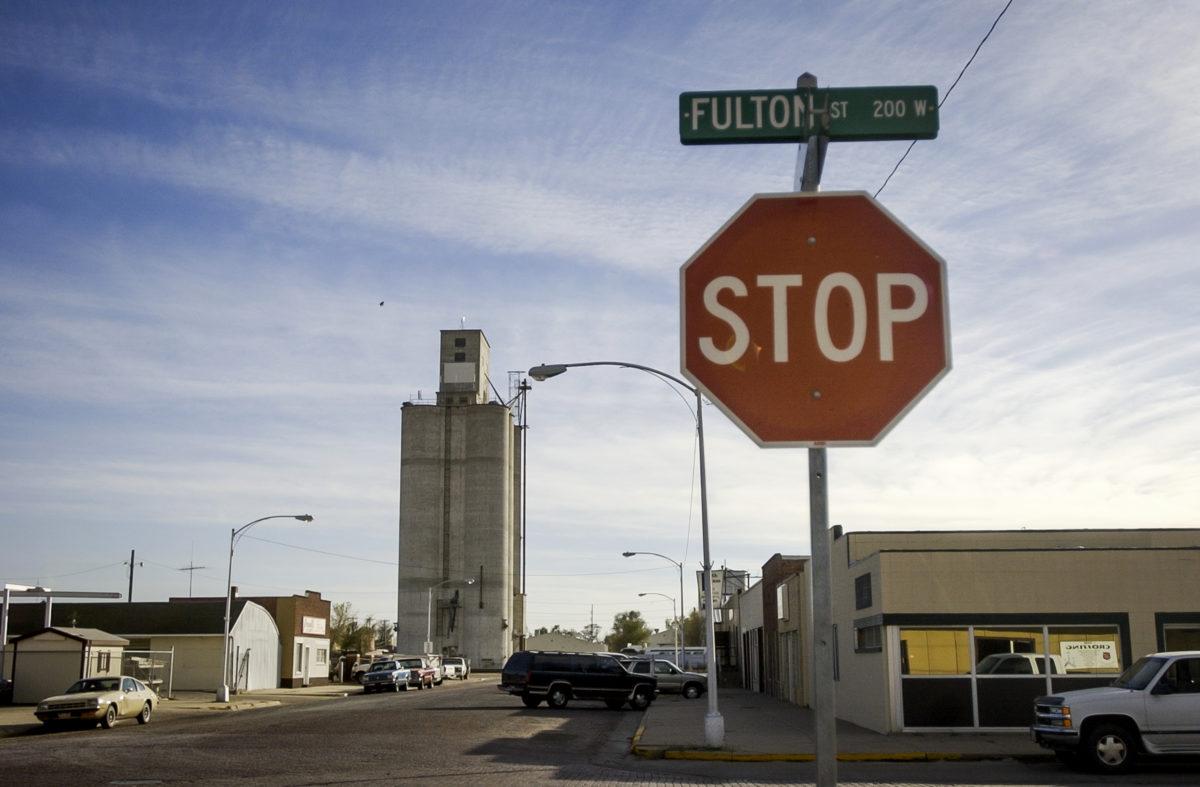 A scene along Fulton Street in Garden City, Kansas, November 10, 2003.